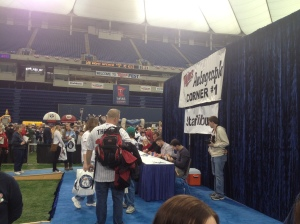 Scott Diamond, Kyle Waldrop and Rene Tosoni signing autographs