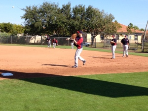 Morneau throwing