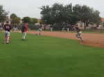 Chris Parmelee during fielding drills