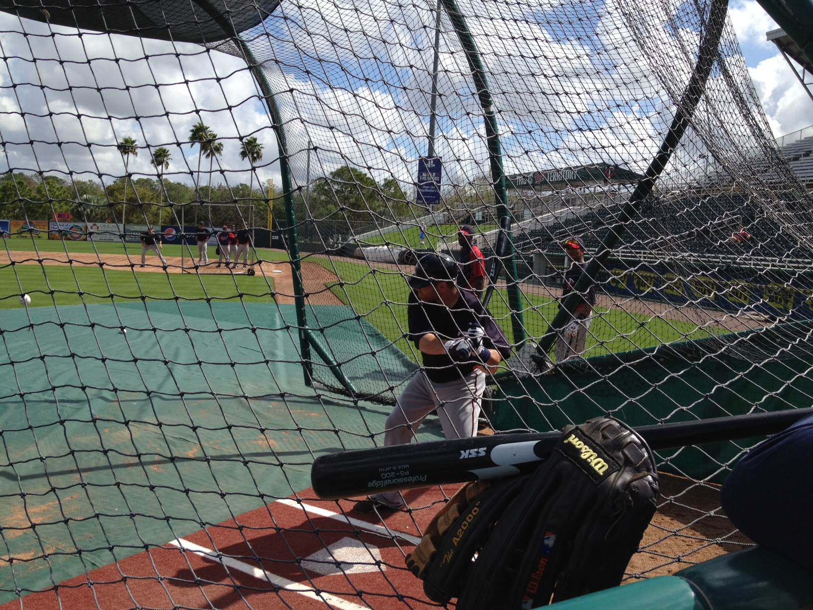 Ryan Doumit taking BP