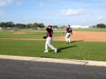 Eddie Guardado playing catch