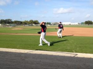 Eddie Guardado playing catch