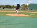 Francsico Liriano throwing BP