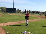 Joe Vavra hitting grounders to Alexi Casilla