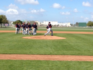 Nick Blackburn working on pickoff move