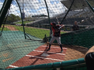 Denard Span taking BP
