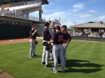 Anderson & Guardado talking with Pavano and Marquis