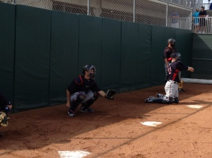 Mauer catching bullpen