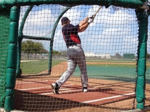 Sean Burroughs taking swing