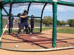 Danny Valencia taking BP