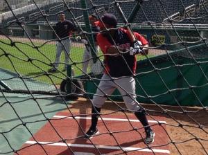 Denard Span about to swing
