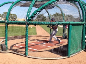 Joe Mauer taking a swing