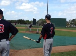 Mauer getting ready to face Jason Marquis