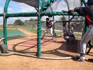 Sean Burroughs taking BP