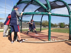 Jamey Carroll taking BP