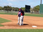 Ron Gardenhire talking with Jamey Carroll