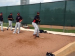 Liriano throwing in front of Guardado