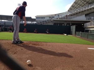 Jared Burton throwing bullpen