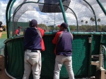 Tony Oliva and Rod Carew watching BP