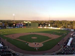 Hammond Stadium at dusk