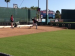 Scott Baker throwing bullpen session