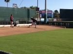 Scott Baker throwing bullpen session