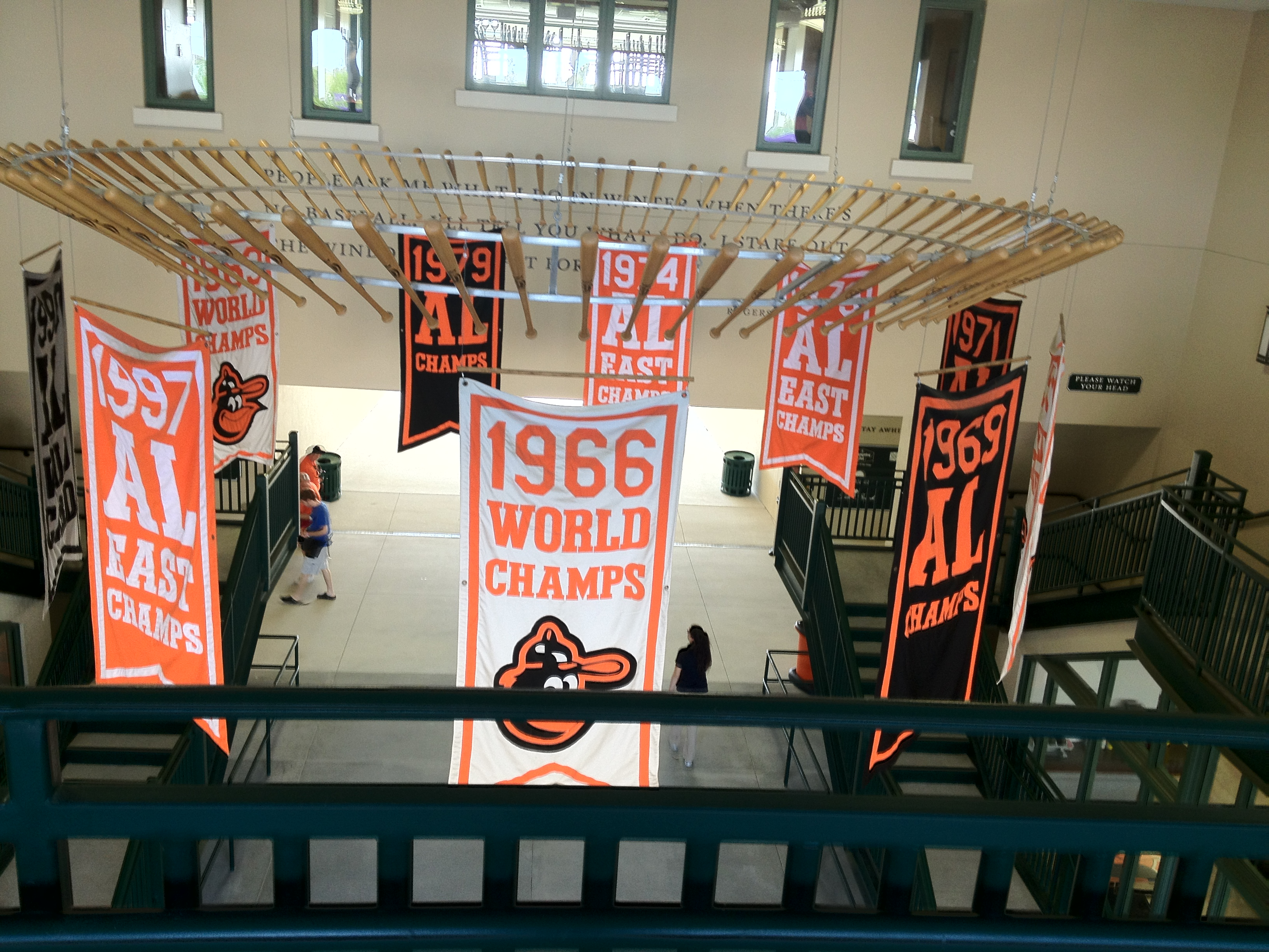 Banners at Ed Smith Stadium