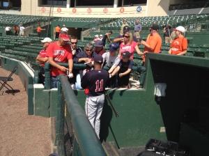 Ben Revere signs autographs