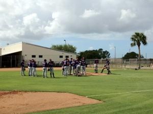 Minor League pitchers meet at mound