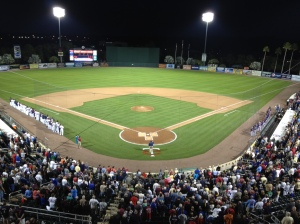 National anthem at Hammond Stadium