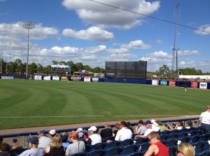 View of outfield from stands