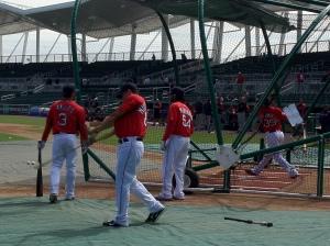 Red Sox taking BP
