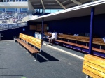 The famous La Velle E. Neal III sitting in the huge dugout