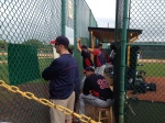 "Twins dugout during ""B"" game"