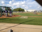 Minor Leaguers get ready for live BP