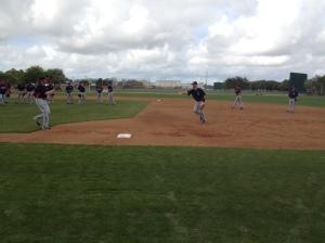 Mauer playing first base