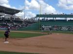 Jamey Carroll taking fielding practice