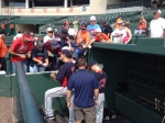 Mauer and Morneau sign autographs