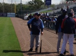 Don Zimmer chats with Oliva