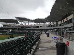 View of stands/pressbox