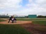 "Alex Burnett pitching in ""B"" game"