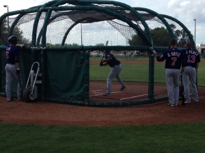 Top prospect Eddie Rosario taking BP