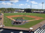 View from the pressbox during BP