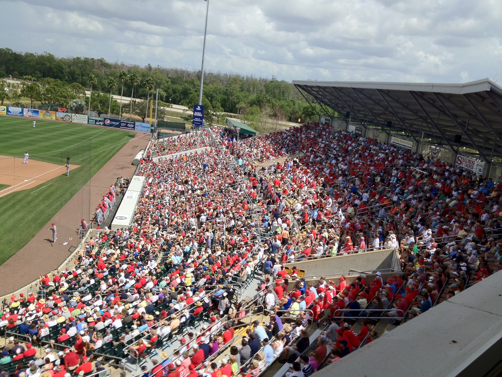 Sea of red at Hammond Stadium