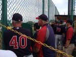 Ron Gardenhire and Rick Anderson chatting