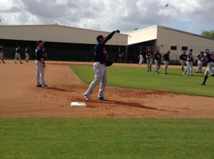 Miguel Sano throws home