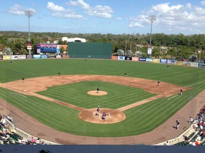"""View of """"B"""" game from pressbox"""