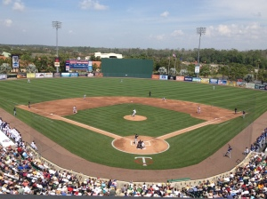 First official pitch of Spring Training