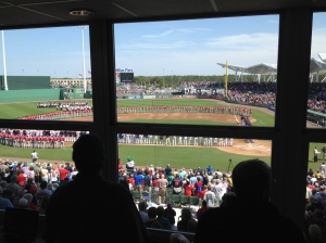 View from pressbox