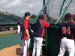 Morneau and Oliva watch BP